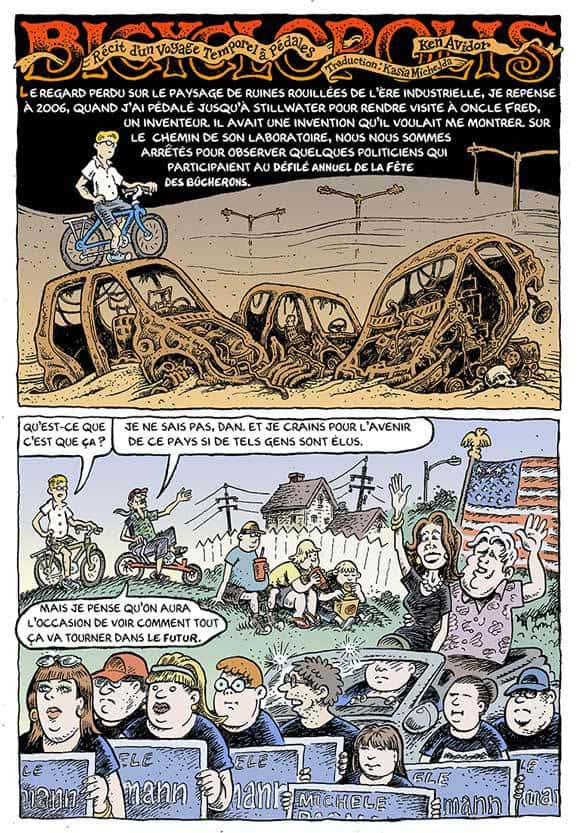 BICYCLOPOLIS, RÉCIT D'UN VOYAGE TEMPOREL A PEDALES 2